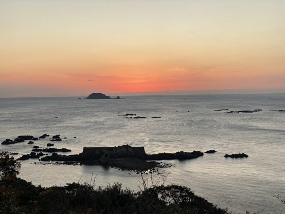 小森海岸の夕陽